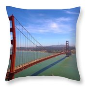 San Francisco Golden Gate Bridge Throw Pillow