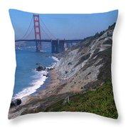 San Francisco - Golden Gate Bridge Throw Pillow