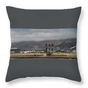 San Francisco International Airport  Throw Pillow