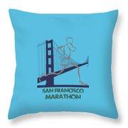 San Francisco Marathon2 Throw Pillow