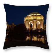 San Francisco Palace Of Fine Arts At Night Throw Pillow