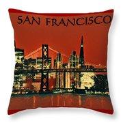 San Francisco Poster Throw Pillow