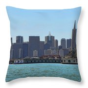 San Francisco Skyline -1 Throw Pillow
