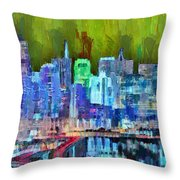 San Francisco Skyline 115 - Pa Throw Pillow