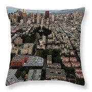 San Francisco Skyline And Coit Towersan Francisco Skyline And Coit Tower Throw Pillow