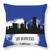 San Francisco Skyline Silhouette Throw Pillow