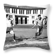 San Francisco Soccer Match Throw Pillow