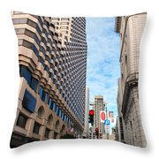 San Francisco Street View - Parc 55  Throw Pillow