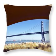 San Francisco Sunday Strollers  Throw Pillow