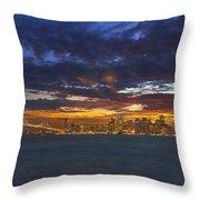 San Francisco Sunset Throw Pillow