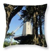 San Francisco Windmills Throw Pillow
