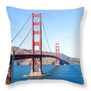 San Francisco's Golden Gate Bridge Throw Pillow