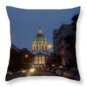 San Francisgough Throw Pillow