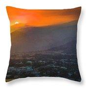 San Gabriel Complex Fire Throw Pillow