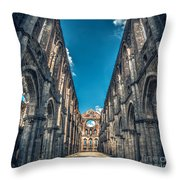 San Galgano Church Ruins In Siena - Tuscany - Italy Throw Pillow