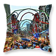 San Gennaro Festival Throw Pillow