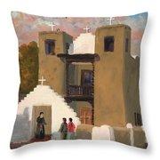 San Geronimo De Taos Spanish Mission Throw Pillow