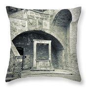 San Gimignano - Medieval Well  Throw Pillow
