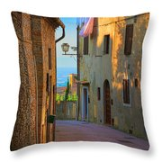 San Gimignano Alley Throw Pillow