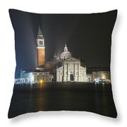 San Giorgio Maggiore By Night Throw Pillow