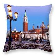 San Giorgio Maggiore From Piazza San Marco - Venice Throw Pillow
