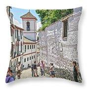 San Gregorio Granada Throw Pillow