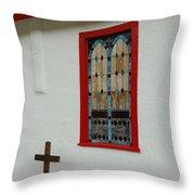San Iglesia Church Window Throw Pillow