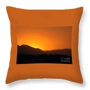 San Jacinto Dusk Near Palm Springs Throw Pillow