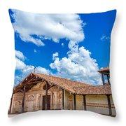 San Javier, Bolivia Church Throw Pillow