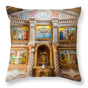 San Javier Church Altar Throw Pillow