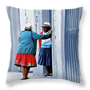 San Joaquin Gossip Throw Pillow