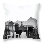 San Jose Graphic Skyline Throw Pillow