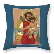 Retablo De San Jose Obrero 301 Throw Pillow