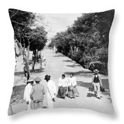 San Juan - Calle De La Princesa - Puerto Rico - C 1899 Throw Pillow