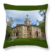 San Juan County Courthouse Throw Pillow