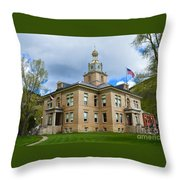 San Juan County Courthouse Throw Pillow