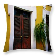 San Juan Doors Throw Pillow by Perry Webster