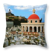 San Juan Graveyard Throw Pillow