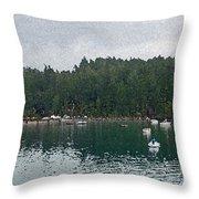 San Juan Islands Throw Pillow