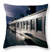 San Juan Islands Ferry Throw Pillow