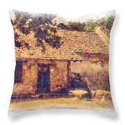 San Juan Mission Residence Throw Pillow
