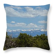 San Juan Mountains Throw Pillow