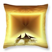 San Juan Silhouette Throw Pillow