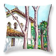 San Louis Obispo Mission Throw Pillow