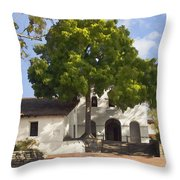 San Luis Mission Throw Pillow
