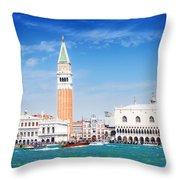 San Marco Square Waterfront Throw Pillow