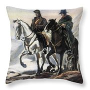 San Martin And Ohiggins Throw Pillow