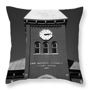 San Miguel County Courthouse Throw Pillow