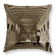 San Miguel Mission California Circa 1915 Throw Pillow