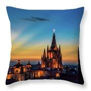 San Miguel Sunset Throw Pillow